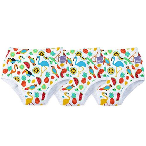 Bambino Mio 3-Piece Potty Training Pants, Tropical Island, 2-3 Years