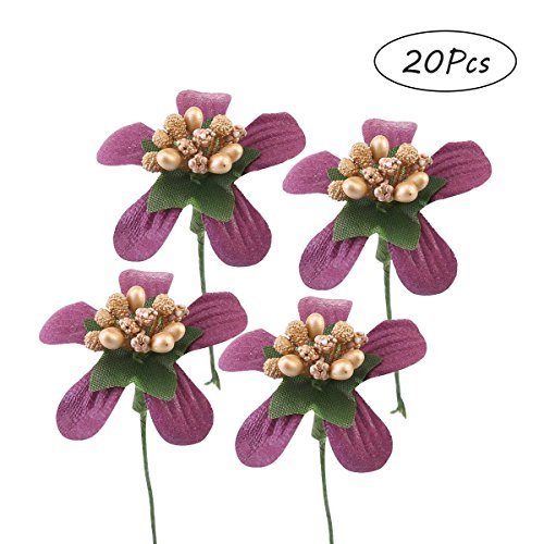 KOBWA 20PCS flower Artificial Flower Wedding Decoration Decorative Festive Decoration Home (Mission Single Dresser)
