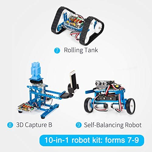 Makeblock DIY Ultimate Robot Kit - Premium Quality - 10-in-1 Robot - STEM Education - Arduino - Scratch 2.0 - Programmable Robot Kit for Kids to Learn Coding, Robotics and Electronics by Makeblock (Image #6)