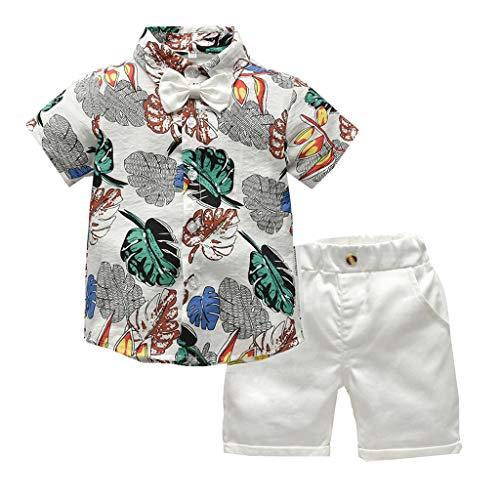 Xturfuo Baby Boy Clothes Short Sleeve Wild One T-Shirt Printing Pants 2PC Summer Outfit Set ()