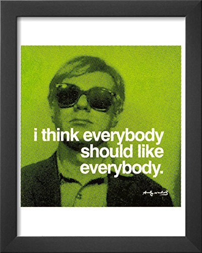 Everybody Framed Art Print by Andy Warhol 13 x (Andy Warhol Home Revolution)