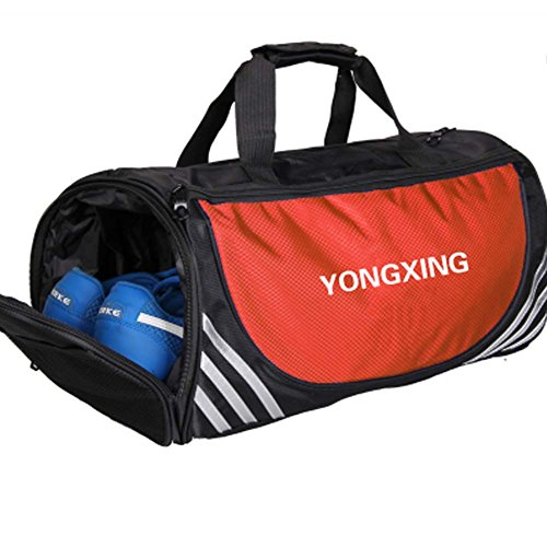 Große Sport Duffel Taschen Gym Zubehör Taschen Reisetasche mit Schuhfach, D