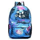 yehert Anime Naruto Cosplay Luminous Backpack Unisex School Bag (#2 Colorful)