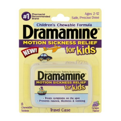 - Dramamine Motion Sickness Relief for Kids Chewable Tablets Grape Flavor , 8 CT by Dramamine