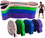 Physix Gear Pull Up Assist Bands - Best Heavy Duty Resistance Bands for Assisted Pullups, Muscle...