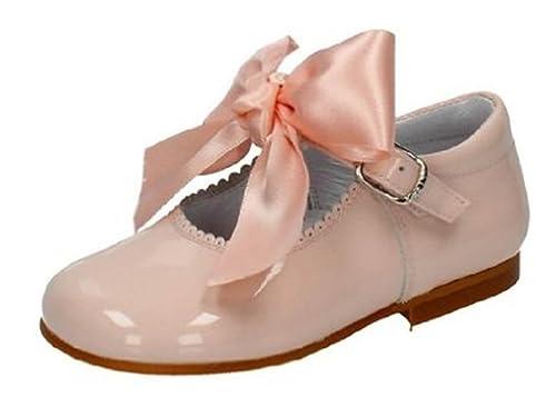 0710a0f4a Merceditas Charol con Lazo para Niñas Todo Piel mod.516. Calzado infantil  Made in Spain