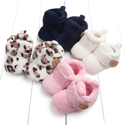 Xshuai Anti-Rutsch Lovely Kleinkind Erste Wanderer Baby Schuhe Runde Toe Flats Weiche Pantoffeln Schuhe Braun