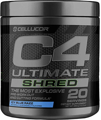 Cellucor C4 Ultimate Shred Pre Workout Powder, Fat Burner for Men & Women, Weight Loss Supplement with Ginger Root…