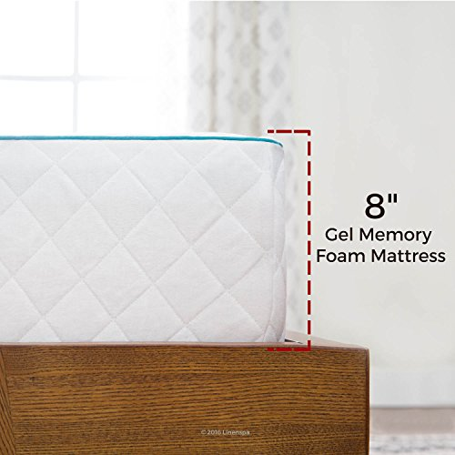Linenspa 10 Inch Gel Memory Foam Mattress - Dual Layered - CertiPUR-US Certified - Medium Feel - 10...