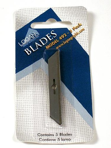 Board Cutter Foam 1500 - Logan Graphic Mat Cutter Blades pack of 5 number 492 For Foam Board Cutting