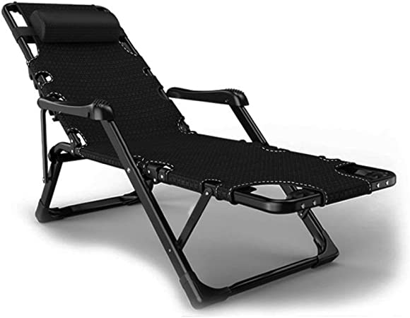 ZJJY Tumbona Plegable,Tumbonas Jardin Exterior Reclinable Gravedad Cero Ligera Silla Sillas Playa Plegables Camas para Muebles Camping Terraza Playa Piscina, Negro, L028XQ (Color : Black): Amazon.es: Hogar