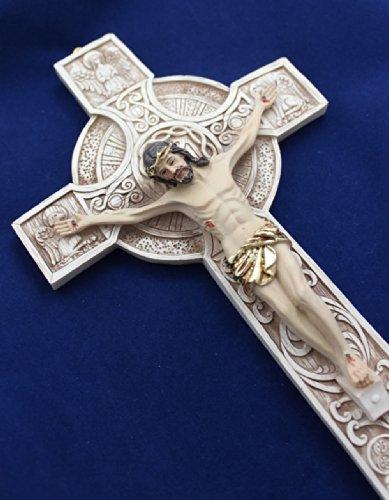 9-inch Celtic Wall Crucifix Irish Cross by CB (Image #2)