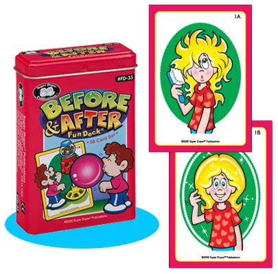 (Super Duper Publications Before & After Fun Deck Flash Cards Educational Learning Resource for Children)