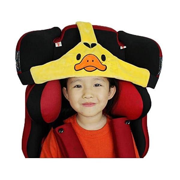 MINGZE Support de tête de siège de voiture d'enfant de bébé, coffre-fort de voiture et positionneur de sommeil confortable, ceinture de fixation réglable de Seat de sécurité (Jaune) 1