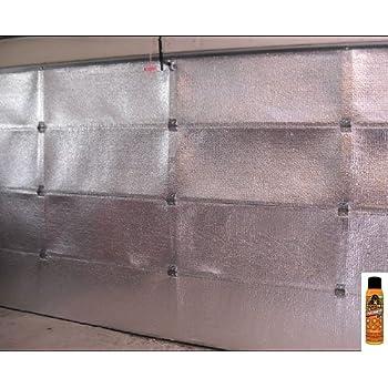 Nasatech Pre Cut 8 Panel 1 Car Garage Door Reflective