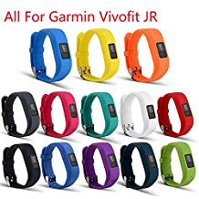 Bands for Garmin vivofit JR, ULT-unite Replacement Wristband With Secure Clasps Garmin vivofit JR Only(No tracker, Replacement Bands Only)