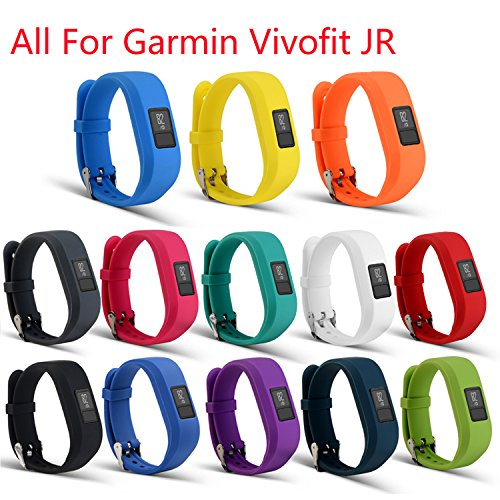 I-SMILE Bands For Garmin vivofit JR, Replacement Wristband With Secure Clasps Garmin vivofit JR Only(No tracker, Replacement Bands - Replacement Junior