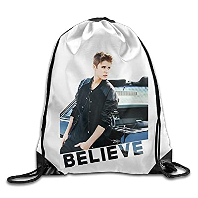 QiBePlo Justin Bieber Believe Gym Drawstring Backpack Sport Bags