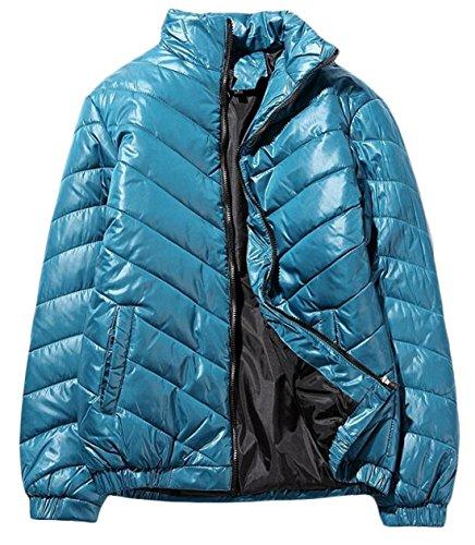 EKU Coat Jacket Green Zipper Down Men's XS Collar Stand Lightweight US rZqrFSa
