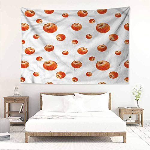 (Sunnyhome Fashion Tapestry,Apple Watercolor Cameo Fruits,Living Room Background Decorative Painting,W63x47L)