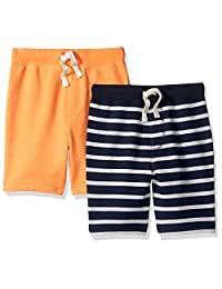 LOOK by Crewcuts Boys' 2-Pack Knit Pull on Shorts