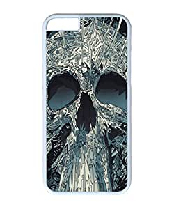 VUTTOO Iphone 6 Case, Abstract Skull Artwork Illustration Hardshell Case for Apple iPhone 6 4.7 Inch PC White