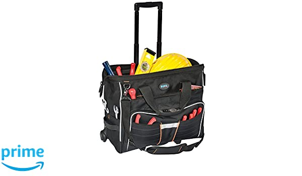 ... portaherramientas con ruedas y asa telescópica (tipo trolley) (interior 510 x 400 x 220 mm, capacidad de 44 l),: Amazon.es: Bricolaje y herramientas