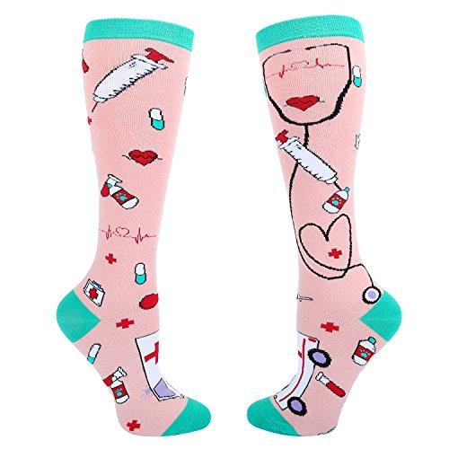 Women's Novelty Medical Knee High Socks ...