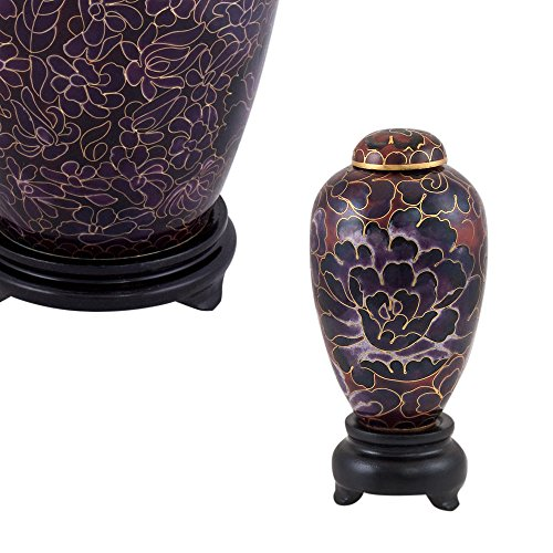Perfect Memorials Deep Purple Mum Flower Cloisonne Keepsake Cremation Urn (Cloisonne Keepsake Cremation Urn)