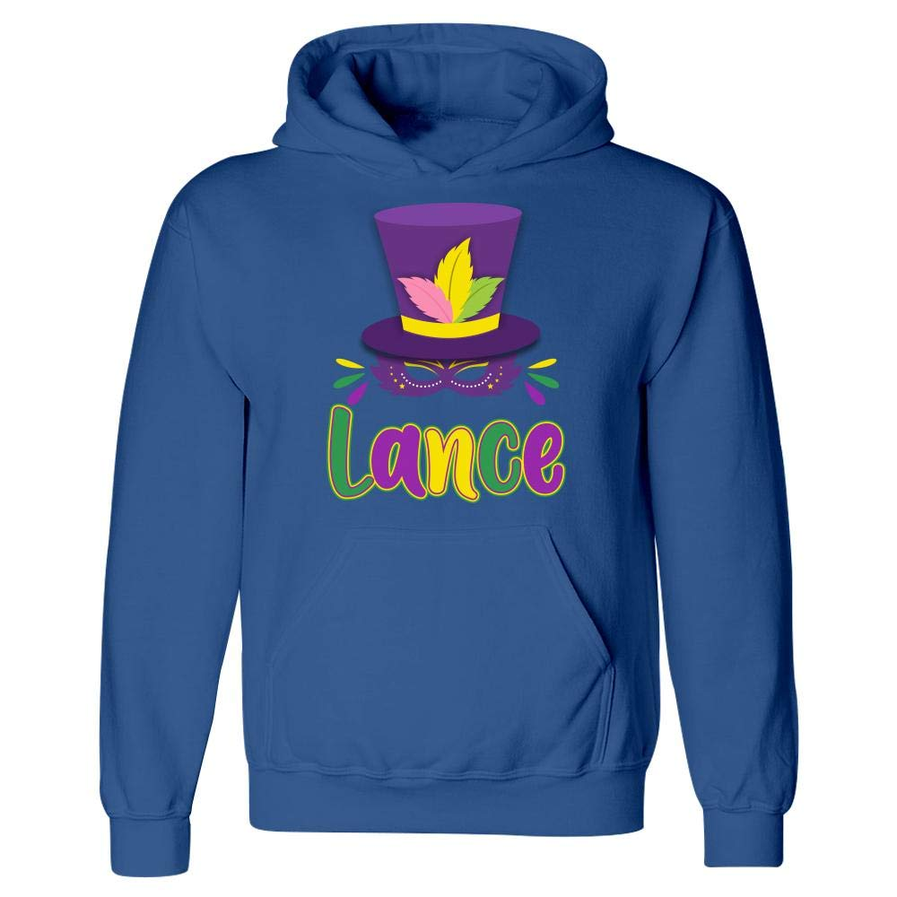 Hoodie Mardi Gras Theme Personalized Name Gift for Lance
