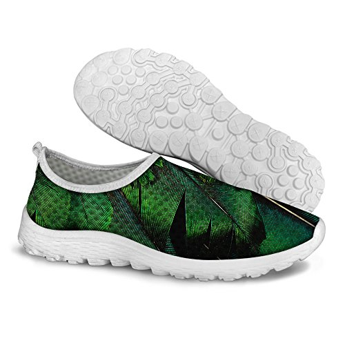 FOR U DESIGNS Green Women's Convenient Mesh Walking Running Shoes Size 9 Review