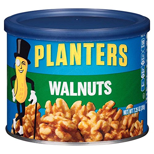 Price comparison product image Planters Walnuts,  Unsalted,  7.25 Ounce Canister (Pack of 3)