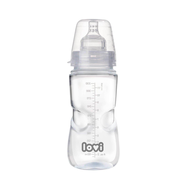 BPA frei transparent Lovi 21//564 Weithalsflasche Medical+ 150 ml mit dynamischem Sauger Super vent 0+ Monate