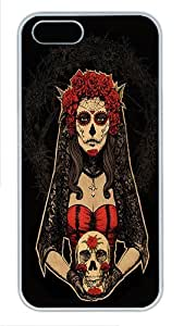 IMARTCASE iPhone 5S Case, Day Of The Dead Lady In Red By Design Polycarbonate Back Case for Apple iPhone 5s/5 White