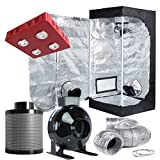 Cheap TopoLite Grow Tent Room Complete Kit Hydroponic Indoor Plants Growing System LED 800W Grow Light + 4″ Carbon Filter Combo + 24″x24″x48″ Dark Room (LED800W+24″x24″x48″+4″ Filter Combo)