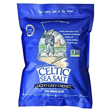 Light Grey Celtic Sea Salt 5 Pound Resealable Bag – Additive-Free,  Delicious Sea Salt, Perfect