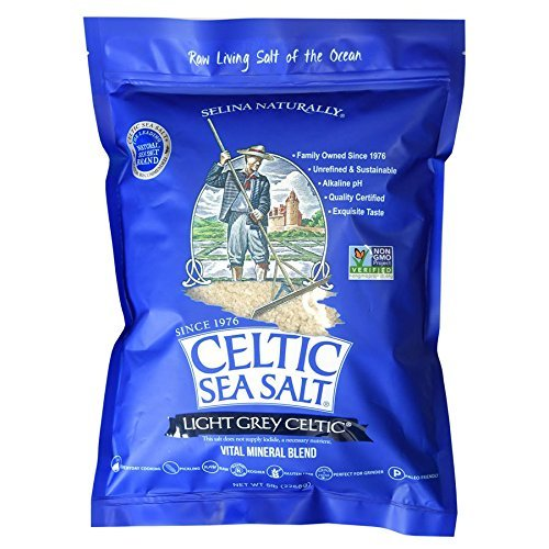 Light Grey Celtic Sea Salt 5 Pound Resealable Bag - Additive-Free, Delicious Sea Salt, Perfect for Cooking, Baking and More - Gluten-Free, Non-GMO Verified, Kosher and Paleo-Friendly