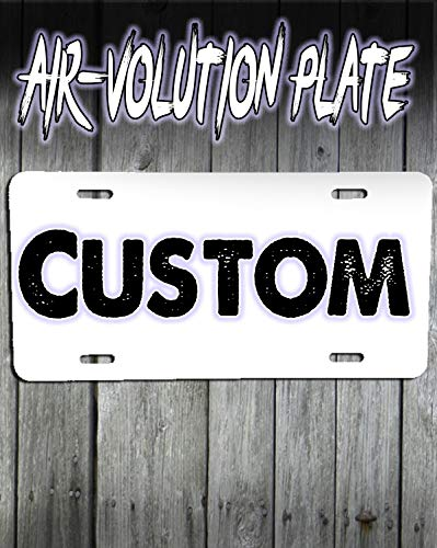 Personalized Custom Airbrushed License Plate Tag