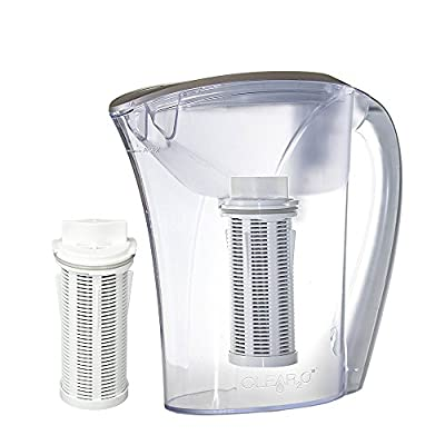 Clear2o CWS100 Water Filter Pitcher System Designed with Quick Connect Technology (2 Filters Included)