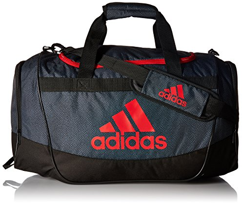 adidas Defender II Medium Duffel Bag, One Size, Onix Grip/Black/Scarlet