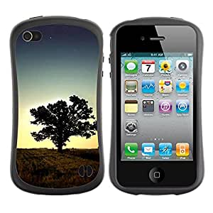 Paccase / Suave TPU GEL Caso Carcasa de Protección Funda para - Sunset Tree Beautiful Nature 1 - Apple Iphone 4 / 4S