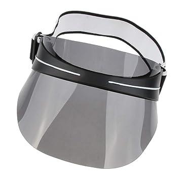 MagiDeal Visera de Plástico UV Protección Gorra de Sombrero para Mujer para  Hombre - Negro 1621b159d36