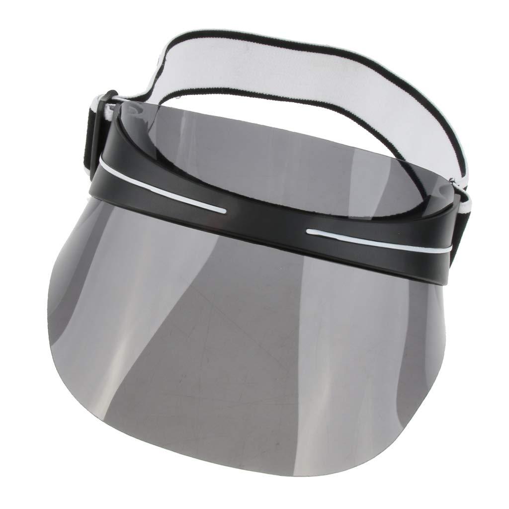 Magideal Uomo Donna Sport Visiera Parasole Cappello Tesa Larga Raggi UV Protezione Esterna Sportiva Copricapo 16x7 5 cm