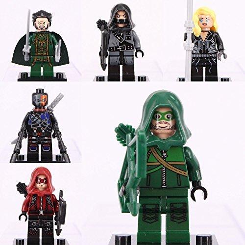 [Superheroes/Villians Minifigure Custom Building Block Toy 6pc] (Superheros And Villians)