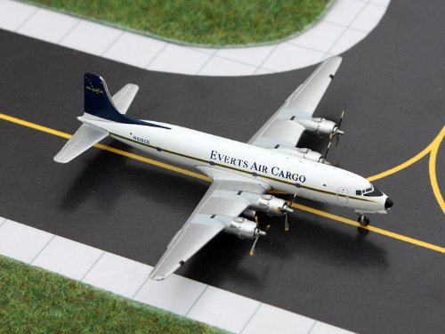 (Gemini Jets DC-6 Everts Air Cargo Diecast Vehicle, Scale 1:400 )