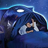 Bed Tent for Kids, Pop Up Twin Size Magic Play Tents Winter Wonderland Forest Pegasus Space Adventure Unicorn Print Playhouse for Boys Girls Children Baby Sleeping Mosquito Net (Space Adventure)