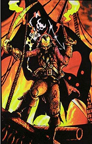 Blackbeard the Pirate Flocked Blacklight Poster Art Print 24 x 36in with Poster Hanger