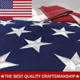 ATHX American Flag 4x6 ft. - Embroidered Stars - Sewn Stripes - Brass