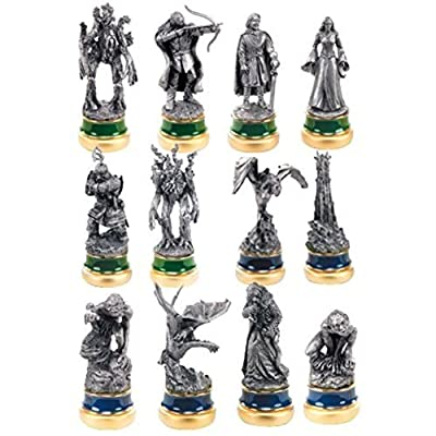 Official the Two Towers 12 Pewter Chess Character Package