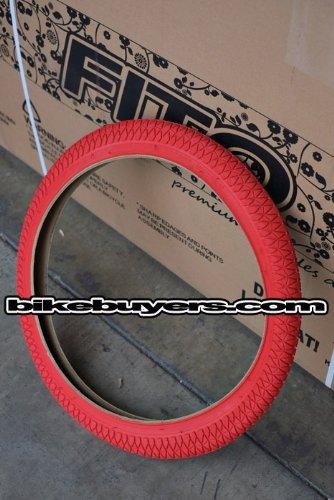 "Duro 20"" x 1.95"" Tire - RED, for Beach Cruiser, BMX, & Mountain Bikes Bicycles"